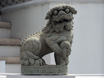 Temple Guardian Lion Royalty Free Stock Photos