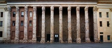 Temple of Hadrian Stock Images