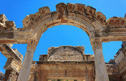 Temple of Hadrian. Ephesus, Turkey Stock Image