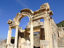 Temple of hadrian Stock Photo