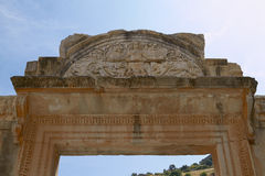 The Temple of Hadrian in Ancient City of Ephesus in Turkey Royalty Free Stock Photos