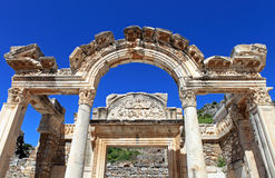 Temple of Hadrian Arch at Ephesus Royalty Free Stock Images