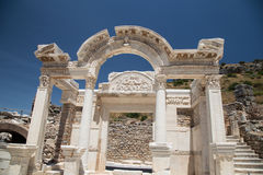 Temple of Hadrian in Ephesus Ancient City Stock Images