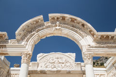 Temple of Hadrian in Ephesus Ancient City Royalty Free Stock Images