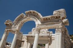 Temple of Hadrian in Ephesus Ancient City Stock Image