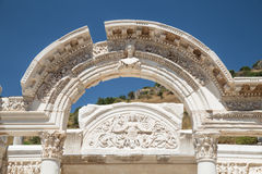 Temple of Hadrian in Ephesus Ancient City. In Izmir, Turkey Royalty Free Stock Image