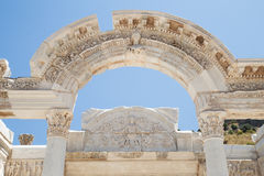 Temple of Hadrian in Ephesus Ancient City Stock Photos