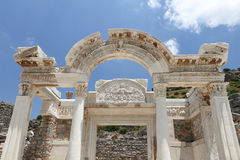 Temple of Hadrian in Ephesus Ancient City Royalty Free Stock Image