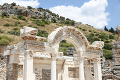 Temple of Hadrian in Ephesus Ancient City Stock Photos