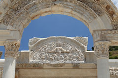 Temple of Hadrian in Ephesus Ancient City. In Izmir, Turkey Royalty Free Stock Photography