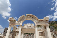 Temple of Hadrian in Ephesus Ancient City Royalty Free Stock Photos