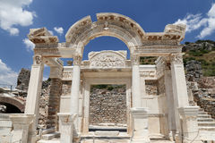 Temple of Hadrian in Ephesus Ancient City Stock Image