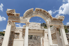 Temple of Hadrian in Ephesus Ancient City. In Izmir, Turkey Stock Image