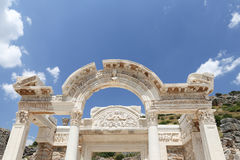 Temple of Hadrian in Ephesus Ancient City. In Izmir, Turkey Stock Images