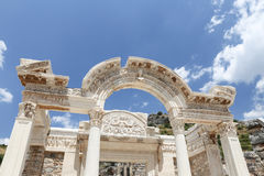 Temple of Hadrian in Ephesus Ancient City. In Izmir, Turkey Royalty Free Stock Images