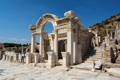 Temple of Hadrian in Ephesus ancient city, Selcuk, Turkey Stock Images