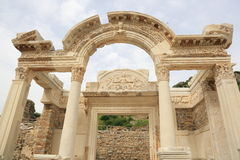Temple of Hadrian in Ephesus Stock Images