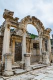 Temple of Hadrian, Ephesus. Ruins temple of Hadrian in Ephesus, Turkey Royalty Free Stock Photos