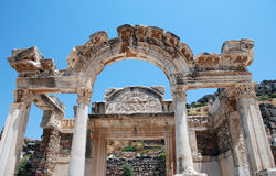 Temple of Hadrian, Ephesus, Turkey, Royalty Free Stock Photography