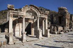 Temple of Hadrian, Ephesus, Turkey. Wonderful Hadrian Temple. In the ancient city of Ephesus, Turkey Royalty Free Stock Images