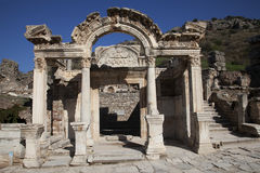 Temple of Hadrian, Ephesus, Turkey. Wonderful Hadrian Temple. In the ancient city of Ephesus, Turkey Stock Photo