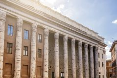 The Temple of Hadrian in Piazza di Pietra in Rome Royalty Free Stock Images