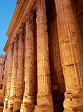 Temple of Hadrian. In Rome in Italy Royalty Free Stock Photography