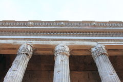 Temple of Hadrian in Rome Stock Images