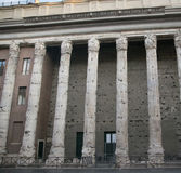 Temple of Hadrian in Rome Stock Photography