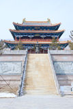 Temple hall. The hall of Zhulin Temple in Wutai Mountain in Shanxi province in China stock image