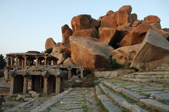 Temple in Hampi Karnataka India Stock Image