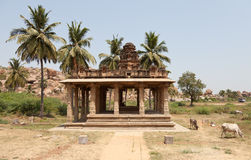 Temple Hampi, Karnataka: ornamental figures Royalty Free Stock Images