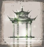 Temple. Hand drawn sketch vector illustration Royalty Free Stock Photos