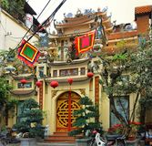 Temple of Hanoi street Royalty Free Stock Photos
