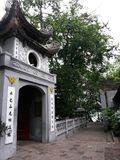 Temple in Hanoi, Vietnam, South East Asia. Hanoi is the capital of Vietnam and the country`s second largest city by population. The population in 2015 was royalty free stock images