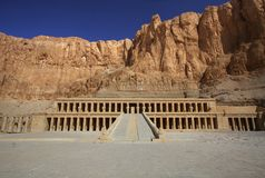 The temple of Hapshepsut in Egypt Stock Photography