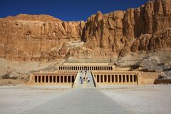 The temple of Hapshepsut in Egypt Royalty Free Stock Images