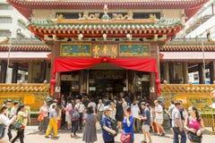 Kwan Im Thong Hood Cho Temple in Singapore stock photos