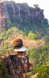 Temple has rock on the roof Royalty Free Stock Photo