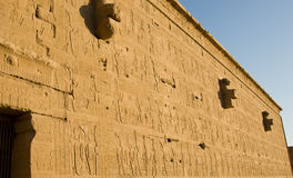 Temple of Hathor. Temple of Horus, at Dendera Royalty Free Stock Photos
