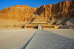 Temple of Hatschepsut, Thebes. Mortuary temple of Queen Hatschepsut in the theban necropolis, July 2010 Royalty Free Stock Image