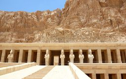 Temple of Hatshepsut. Mortuary Temple of Hatshepsut, near the Valley of the Kings, in Luxor, Egypt Stock Image