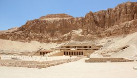 Temple of Hatshepsut. Mortuary Temple of Hatshepsut, near the Valley of the Kings, in Luxor, Egypt Stock Images