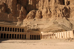 Temple of Hatshepsut at Deir el-Bahri. Neighborhoods of Valley of the Kings. Stock Image