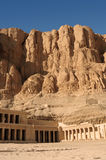 Temple of Hatshepsut at Deir el-Bahri. Neighborhoods of Valley of the Kings. Stock Images