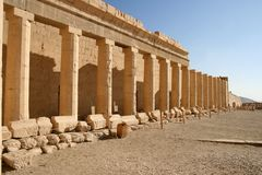 Temple of Hatshepsut (Egypt). Temple of Hatshepsut in Egypt near the valley of th Kings Stock Photos