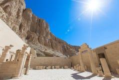 The temple of Hatshepsut near Luxor Stock Photo