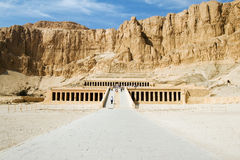 Temple of Hatsheput. In Egypt Royalty Free Stock Image