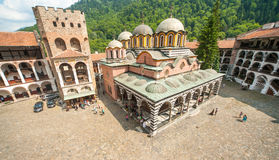 Temple in the heart of the Rila Monastery in Bulgaria Royalty Free Stock Photos