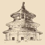 Temple of Heaven, архитектура города Стоковое Изображение